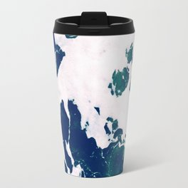 Marbleized Waves Travel Mug