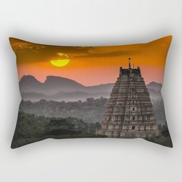 Beautiful village of Hampi Rectangular Pillow