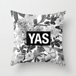 YAS B&W Throw Pillow