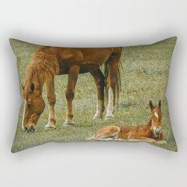 Horse And Foal Rectangular Pillow