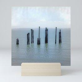 Tokeland, Willapa Bay, Washington Pier, River Pilings Mini Art Print