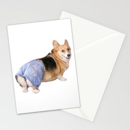 Corgi, Apple Bottom Jeans Stationery Cards