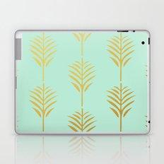 Golden Palm Leaves on Mint Laptop & iPad Skin