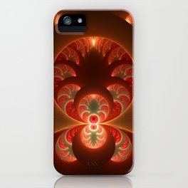Fractal Mysterious, Warm Colors Are Shining iPhone Case