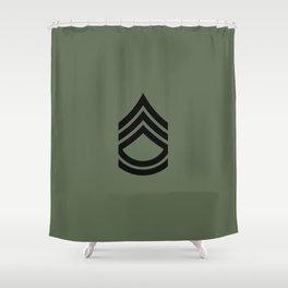 Sergeant First Class (Green) Shower Curtain