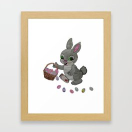 The Clumsy Easter Bunny Framed Art Print