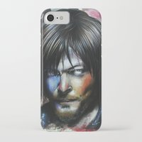 daryl dixon iPhone & iPod Cases featuring Daryl Dixon by Jhaiku