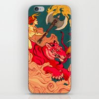 patriarchy iPhone & iPod Skins featuring The Conquering of Man by Henri Scribner