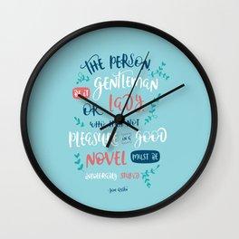 Jane Austen - Good Novel Wall Clock