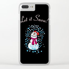 Let It Snow! Clear iPhone Case