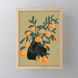 Oranges in vase No. 07 Framed Mini Art Print