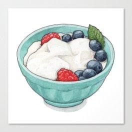 Breakfast & Brunch: Yogurt Canvas Print