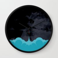 rocket Wall Clocks featuring Rocket by Talip Memis