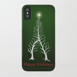 Christmas Tree Intertwined - painting iPhone Case
