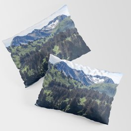 Three Sisters Mountains Photography Print Pillow Sham
