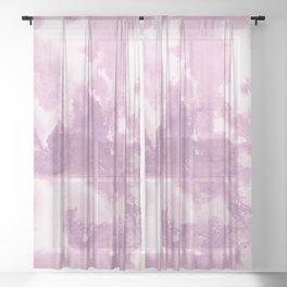 Blush Pink Abstract Painting #1 #ink #decor #art #society6 Sheer Curtain