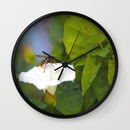 From Flower To Flower #decor #society6 Wall Clock