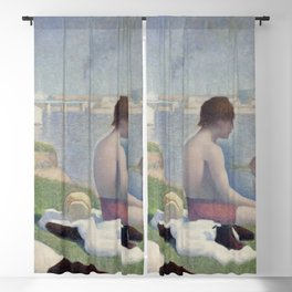 Georges Seurat - Bathers at Asnières Blackout Curtain