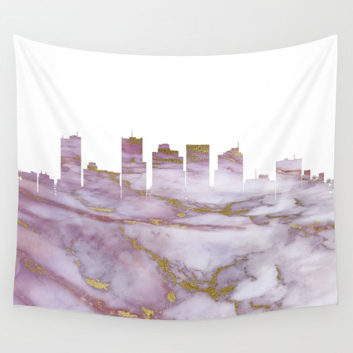 Phoenix Arizona Skyline Wall Tapestry