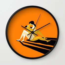 tantric sex couple Wall Clock