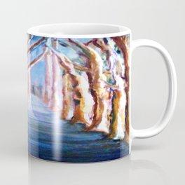 Blue Gum Trees along the Path Coffee Mug