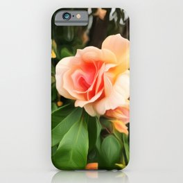 Apricot Rose - Painterly Beauty iPhone Case