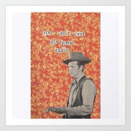 Cowboy collage Art Print