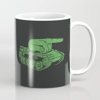 war Mugs featuring @#$% WAR! by Madkobra