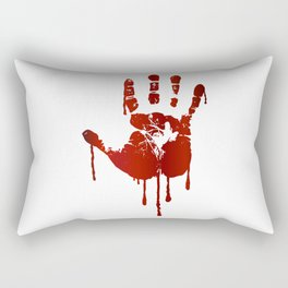 Bloody halloween hand Rectangular Pillow