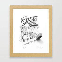 The Eraser Framed Art Print