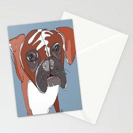 My Sad Boxer Dog Stationery Cards