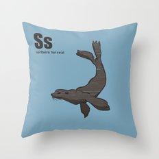 northern fur seal Throw Pillow