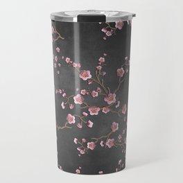 SAKURA LOVE - GRUNGE BLACK Travel Mug