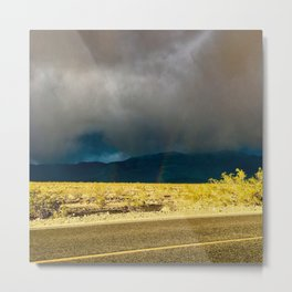 Sunlight Breaking Through the Clouds in Death Valley Metal Print