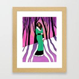 Sonja in the Woods Framed Art Print