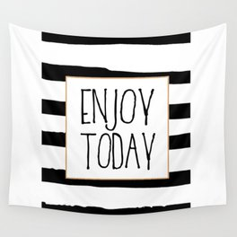ENJOY TODAY SIGN, Motivational Art,Motivational Quote,Office Wall Art,Relax Poster,Buddha Art,Fashio Wall Tapestry