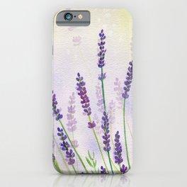 Lavender Flowers Watercolor iPhone Case