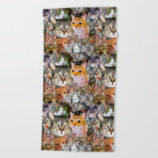 CATS!  Beach Towel