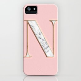 N letter monogram iPhone Case