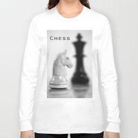 chess Long Sleeve T-shirts featuring Chess by Falko Follert Art-FF77