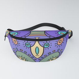 Abstracted Peacock Fanny Pack