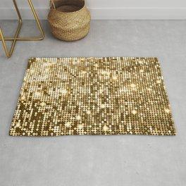 Golden Metallic Glitter Sequins Rug