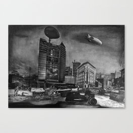 AIRSHIP STATION Canvas Print