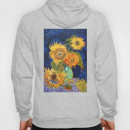 Van Gogh, Five Sunflowers 1888 Artwork Reproduction, Posters, Tshirts, Prints, Bags, Men, Women, Kid Hoody