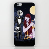 nightmare before christmas iPhone & iPod Skins featuring The Nightmare Before Christmas by Cécile Appert