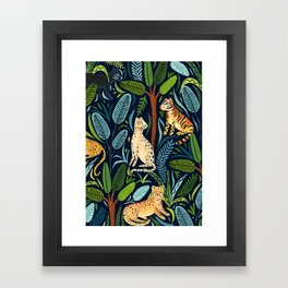 Jungle Cats Framed Art Print