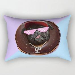Snoop Pug Chocolate Donut Rectangular Pillow
