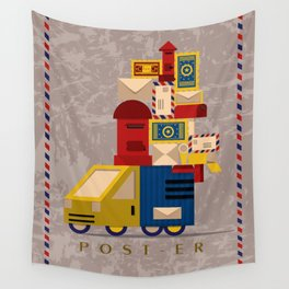 Postman's Post-er poster Wall Tapestry