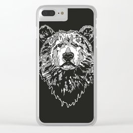 BEAR IN BLACK Clear iPhone Case