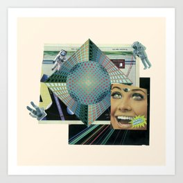 dentes brancos outter space Art Print